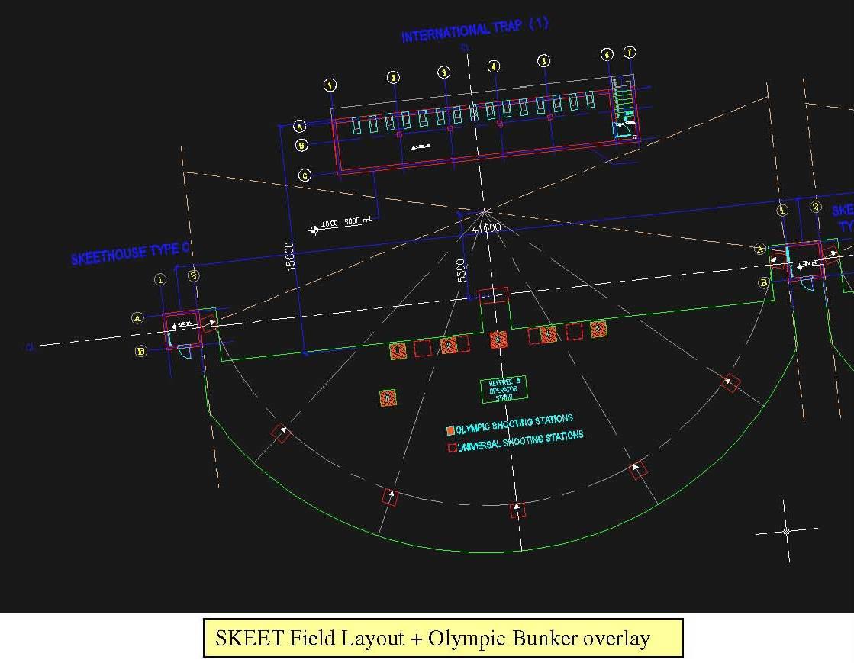 Skeet Shooting Field Design Layout